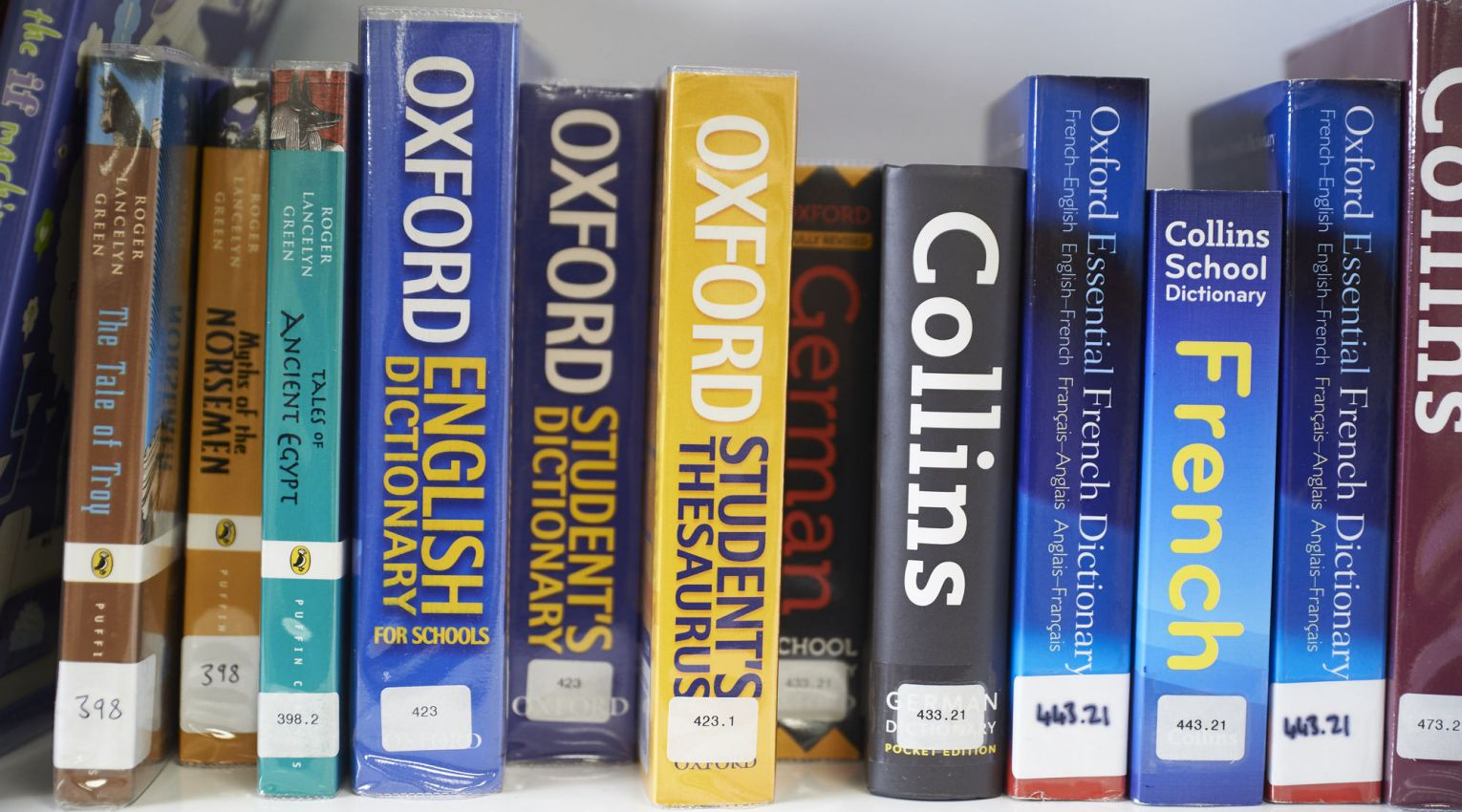 row of dictionaries