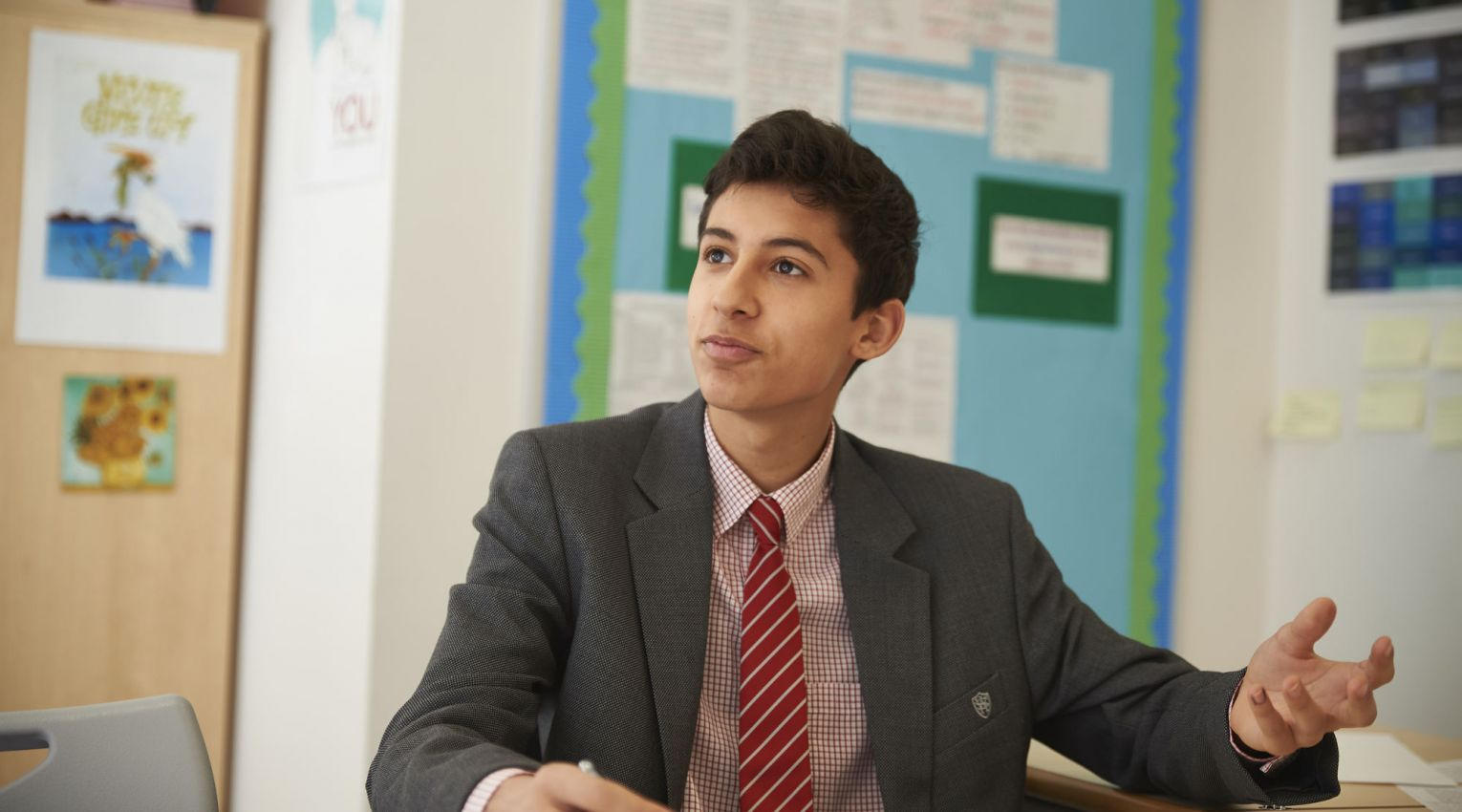 wetherby senior student sitting at a desk