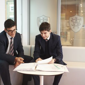 Students in the Sixth Form common room