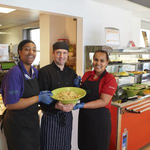 Staff in a Sixth Form Cafe