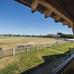 Cricket pavilion at Ealing Trailfinders